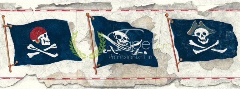 Tapet pentru copii - baieti, steag cu pirati.