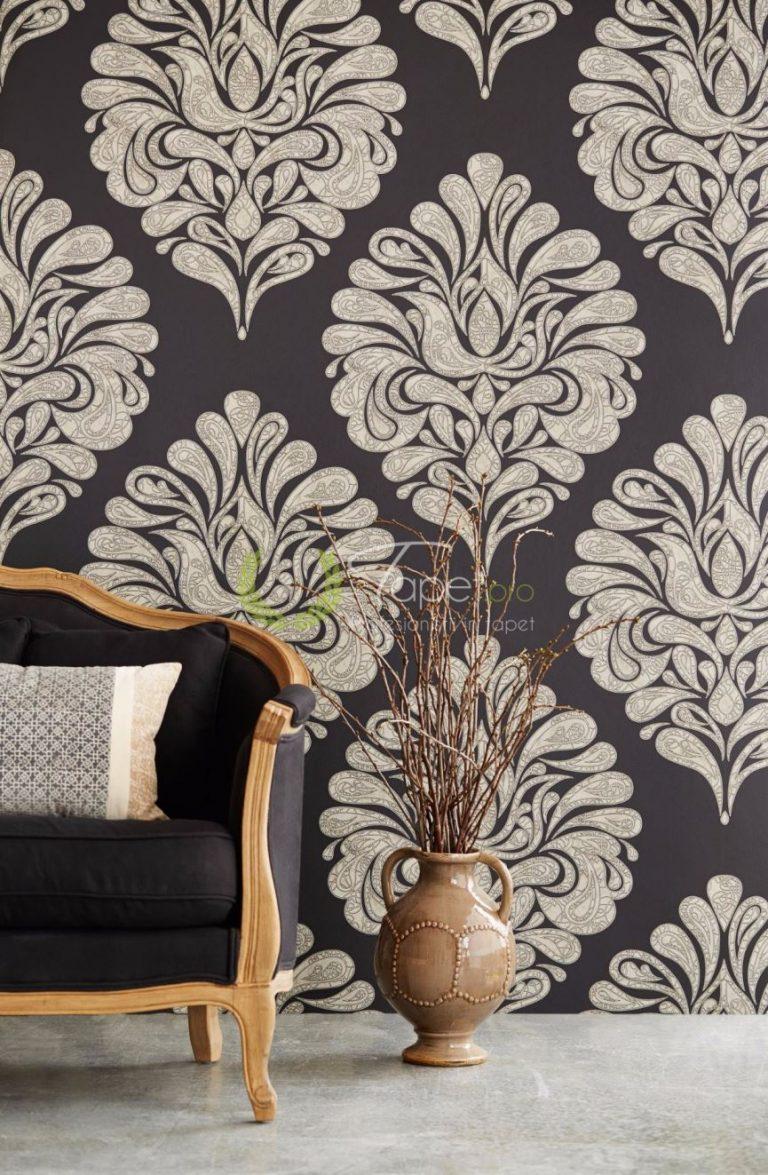 Tapet floral stilizat modern.
