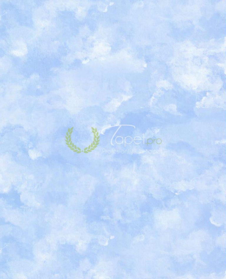 Tapet din hartie cu norisori in nuanta de albastru ciel.